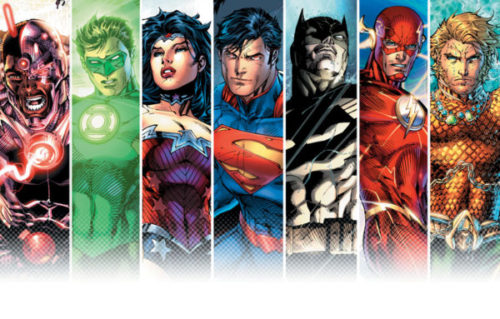 Cyborg, Supermaa, Wonder Woman, The flash, green Lantern, batman