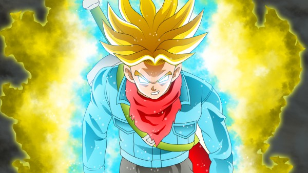 Spirit Bomb Super Saiyan Future Trunk in Dragon Ball Super