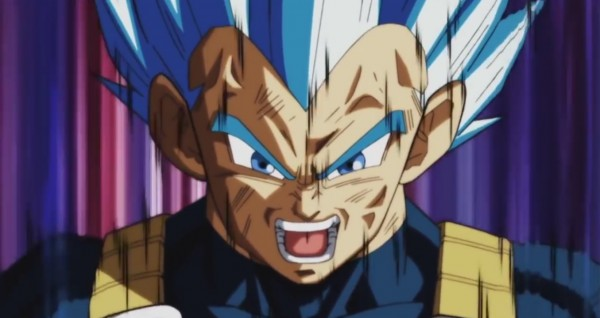 Blue Vegeta vs Toppo in DBS episode 126
