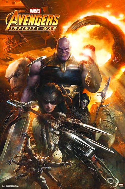 Avengers: Infinity War Black order characters promo poster