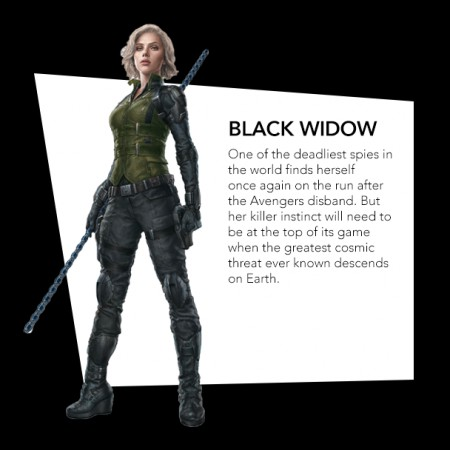 Black Widow in green costume