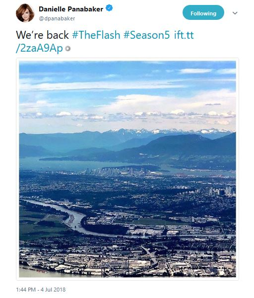 Danieller Panabaker The Flash shooting location date