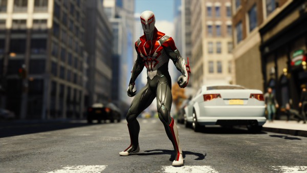 Spider-Man 2099 white costume ps4