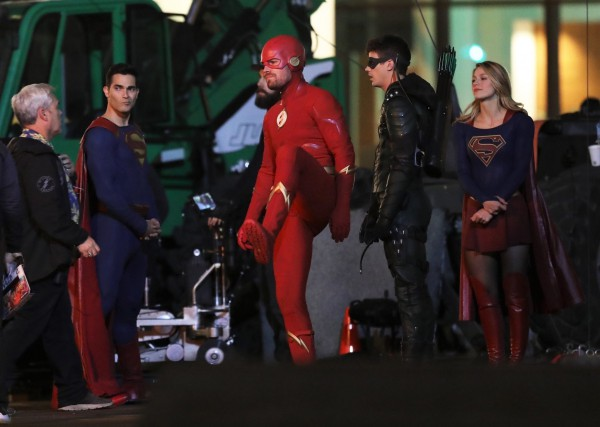 Elseworlds Barry Allen as Arrow Oliver Queen Flash