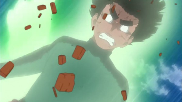 Rock Lee opens Fourth gate Gate of Pain